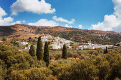 Village of Filoti in Naxos Island, Greece. Royalty Free Stock Images