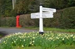 Village Fingerpost Royalty Free Stock Images