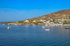 The island of Syros. The village of Finikas on the island of Syros Royalty Free Stock Photo