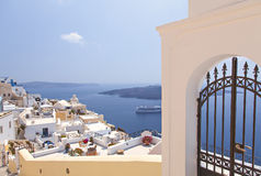 Village of Fira Stock Image