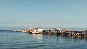 Village. Fishing Boats and Fishing Village Royalty Free Stock Photo