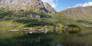 The village on a fjord Royalty Free Stock Photos