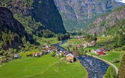 Village at Flam. Beautiful small village at Flam, Norway Royalty Free Stock Photography