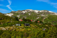 Village in Flam - Norway. Nature and travel background Stock Photography