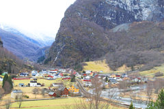 Village at Flam, Norway Stock Image