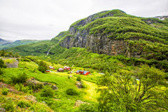 Village in Flam. Norway Stock Photo