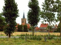 Village in flanders, Belgium Stock Images