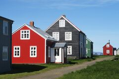 The village in Flatey is at Breidafjordur West Iceland. This photo is taken from that place.