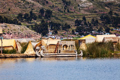 Village on Floating Islands Royalty Free Stock Photos