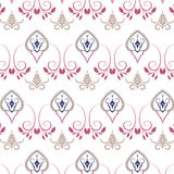 Village floral folk pattern of interwoven flowers and leaves. Vintage ethnic patterns Stock Photography