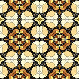 Village floral folk pattern of interwoven flowers and leaves. Stock Photos