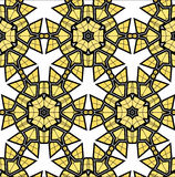 Village floral folk pattern of interwoven flowers and leaves. Royalty Free Stock Photo