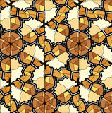 Village floral folk pattern of interwoven flowers and leaves. Royalty Free Stock Image