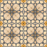 Village floral folk pattern of interwoven flowers and leaves. Stock Photo