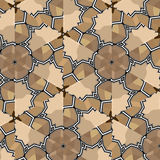 Village floral folk pattern of interwoven flowers and leaves. Stock Image