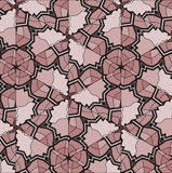 Village floral folk pattern of interwoven flowers and leaves. Stock Images