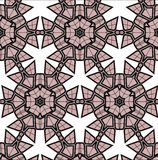 Village floral folk pattern of interwoven flowers and leaves. Royalty Free Stock Images