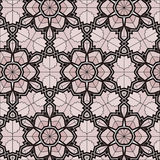 Village floral folk pattern of interwoven flowers and leaves. Royalty Free Stock Photography