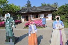 Village folklorique coréen à Séoul images libres de droits