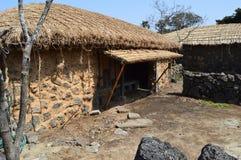 Village folklorique de Seongeup, île de Jeju, Corée Image libre de droits