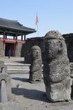 Village folklorique de Seongeup, île de Jeju, Corée Photo libre de droits