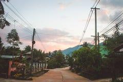 Village in folkways. Village in folkway on northern Thailand Stock Photos