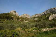 Village of Fontaine de Vaucluse in Provence Royalty Free Stock Photo