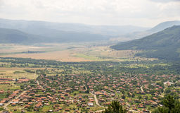 Village at the foot of the Balkan Mountains, Bulgaria Royalty Free Stock Photography