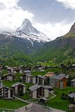 Village at the Foothill of Matterhorn Stock Photography
