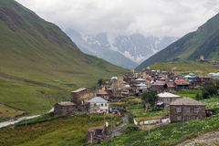 Village in foothills of Svaneti province, Georgia Royalty Free Stock Photo