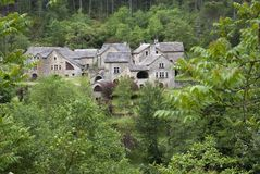 Village in the forest Royalty Free Stock Photo