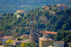 A village in the land of corse royalty free stock photography