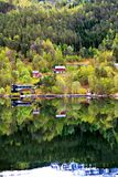 The village at forest on mountain, Norway Stock Photography