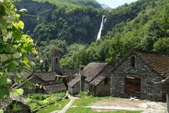 The village of Foroglio on Bavona valley Royalty Free Stock Image