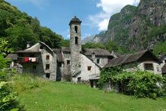 The village of Foroglio on Bavona valley Royalty Free Stock Image