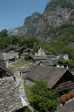 The village of Foroglio on Bavona valley Stock Image