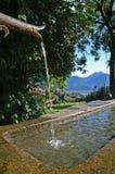 Village fountain. Fountain in a little mountain village in the Alps; europe; Austria/Italy stock photos