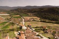 Natural landscape, fields of Frias in Burgos, Castilla y León. Spain. Village of Frías in Burgos, Castilla y León. Spain. Ancient and medieval royalty free stock image