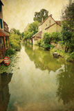 Village in france Europe Royalty Free Stock Images