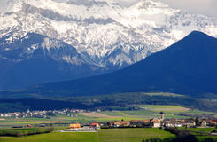 The village in the French Alps Stock Photo
