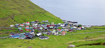 Village of Funningur on the Faroe Islands Royalty Free Stock Photography