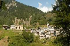 The village of Fusio on Maggia valley Stock Photo