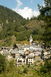 The village of Fusio on Maggia valley Royalty Free Stock Photo
