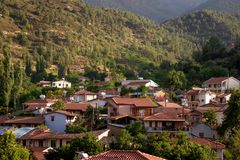 The village of Galata on the north side of the Troodos mountain Royalty Free Stock Photography