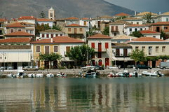 Village of Galaxidi Greece. View of the Village of Galaxidi Greece from across the bay royalty free stock image
