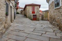 Village galicien Allariz avec ses rues en pierre typiques Photo libre de droits