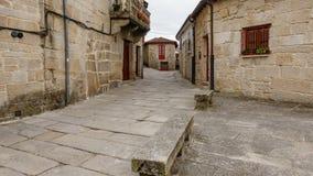 Village galicien Allariz avec ses rues en pierre typiques Images stock
