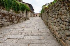 Village galicien Allariz avec ses rues en pierre typiques Photos libres de droits