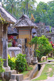 The village at garden. Indonesia - Bali Royalty Free Stock Images