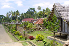 The village at garden. Indonesia - Bali Stock Image